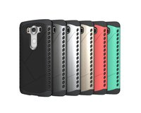 New Shield Pattern TPU+PC Hybrid Hard Phone Case Cover for LG V10, Armor Pattern moible phone case for LG V10