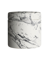 Novel and eco-friendly concrete home decotation candle jars with marble effect