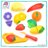 New style toddler toys kitchen set pretend food plastic vegetables and fruits