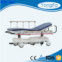 High Quality Electrophoresis And Power Coating Patient Trolley Stretcher With CE FDA ISO