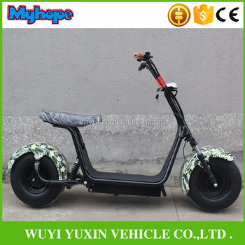2017 new design 1000w 60V 2 wheel citycoco electric scooter / halley motorcycle scooter