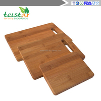 Enduring Bamboo 3 Piece Cutting Board Set Breads Meats Vegetables - Hardy Bamboo Care Instructions & Lifetime Guarantee