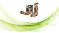rain boots jelly color leopard print ladies sexy rubber boots