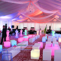 led light up event lounge furniture for wedding reception lounge area (cb400)