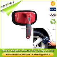 Sponge tire brush for polishing, car care wheel cleaning brush