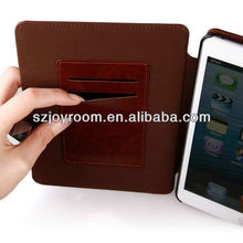 Wallet leather with ID card slot cover stand case for ipad mini