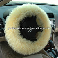 white velvet steering wheel cover for girls