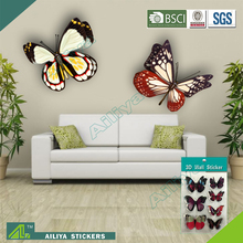 non-toxic material fancy custom design removable butterfly 3d wall stickers