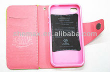 2014 New Product for Apple iphone 5 5s Case Cover Leather