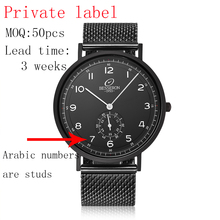 Made in china cheap price oem mens all black japan mov't quartz stainless steel watch