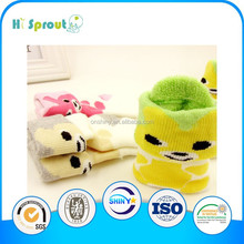 Cute animal cotton spandex knitted baby socks