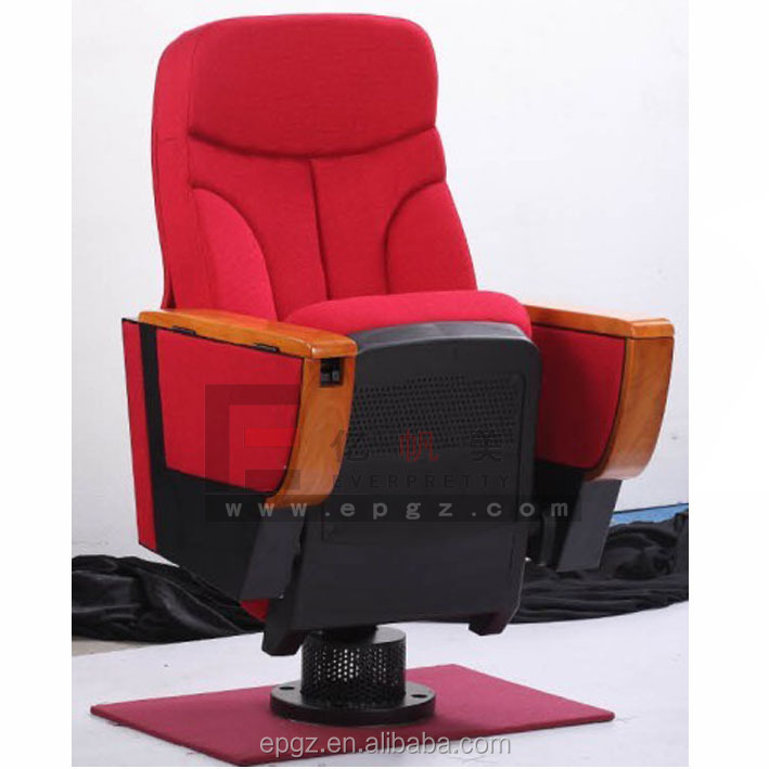 red fabric church seat , plastic lecture hall seating , lecture hall seat with arms