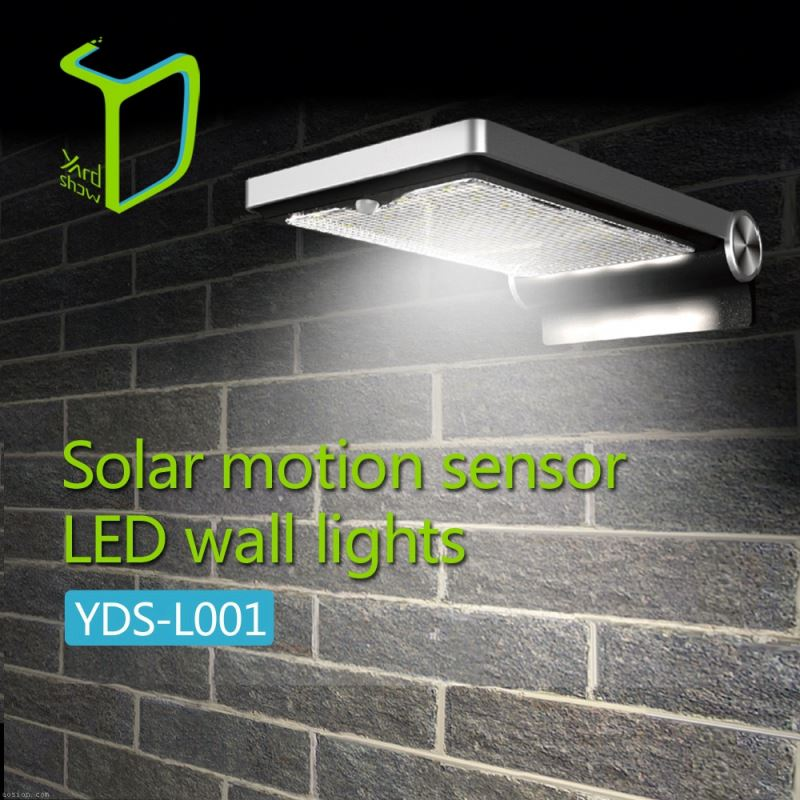 Yardshow Sample Available Light-control Motion Sensor Activated solar lights for outside walls for garden yard