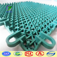 double cross pattern PP Interlocking sports flooring