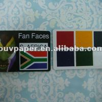 Sport Entertainment Product Face Paint Card