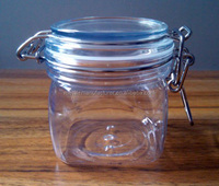 silvery white Clear Glass Jar Seal Buckle
