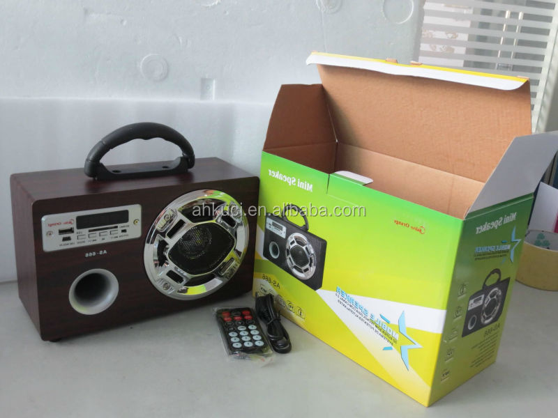 Factory OEM ODM Different Colors Portable Wooden Radio FM USB SD Card MP3 Radio Portable JS-189