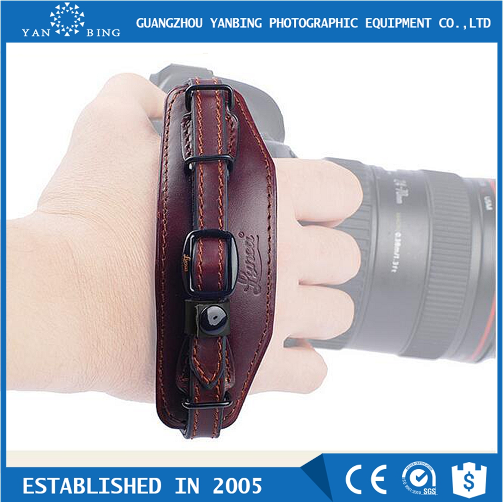 New released LYNCA cowhide leather camera wrist strap with quick plate