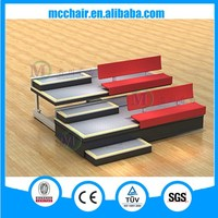 2016 Comet telescopic bleacher with backrest and blow molded stadium seat/retractable bleachers for audience arena seating