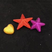 wholesale holiday decoration glitter foam star