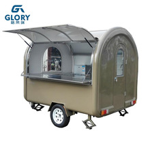 CE Approved Food trailer With Big Side Window All Kinds Of Fast Food Vending Trailer