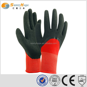 13 Gauge nylon knit safety work gloves