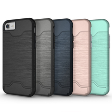 Armor back cover design phone case for iphone 7 7plus PC TPU materials