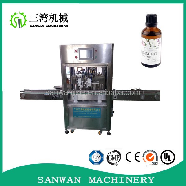 Factory direct sale automatic bottle filling machine 4 nozzles,pneumatic piston fillers 4 dual head,piston filling machine