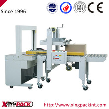 high efficiency automatic carton sealer with strapping machine