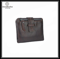 New Design Front Pocket Men's Slim Short Genuine Leather Wallet Bifold Money Clip