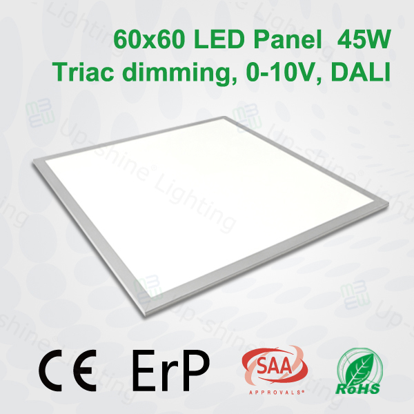 TUV CE RoHS approved 3 years warranty dimmable led panel light 6060