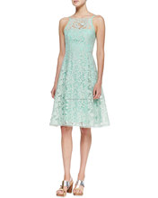 CHEFON Beach Breeze Lace Sleeveless womens cocktail dresses
