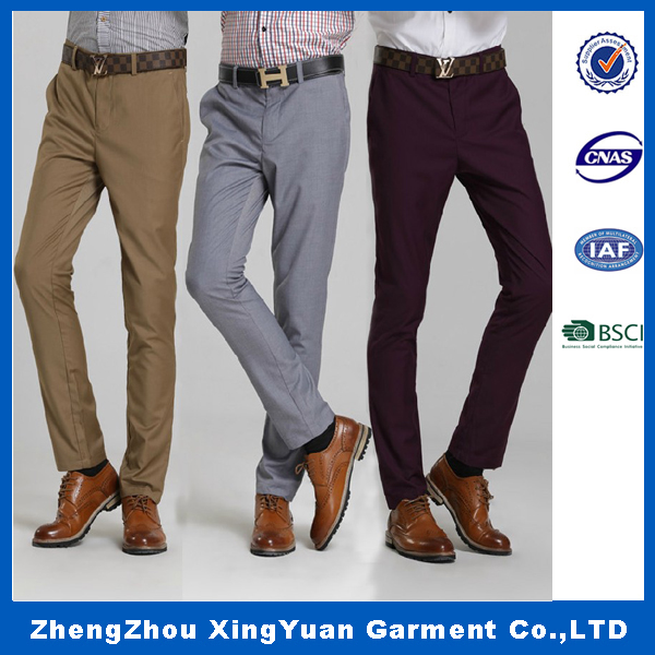 Men Pants 2016 New Fashion Mens Business Formal Suit Pants Slim Fit Design Men Trouser