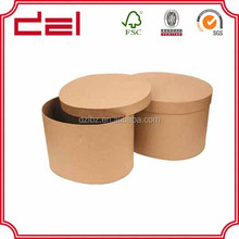 Custom made high quality brown round paper cylinder box
