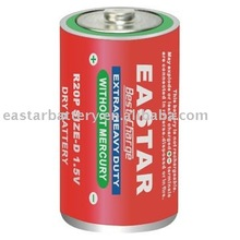 R20 PVC jacket plastic top metal bottom battery