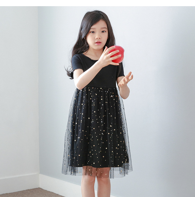 new style wholesale high quality fancy black long frocks kids cotton frocks design