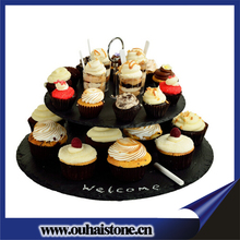 Manufacturing beautiful tableware slate stone wedding cakes stand