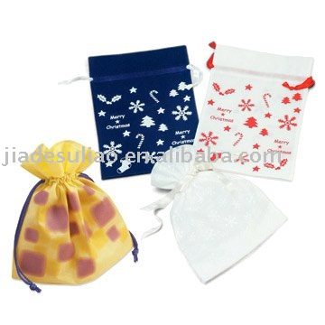 Strawberry shaped shopping bags/Shopping bags with DRAWSTRING/Rose shape folding shopping bag