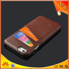 card holder leather cases with big lip design for iphone 5s