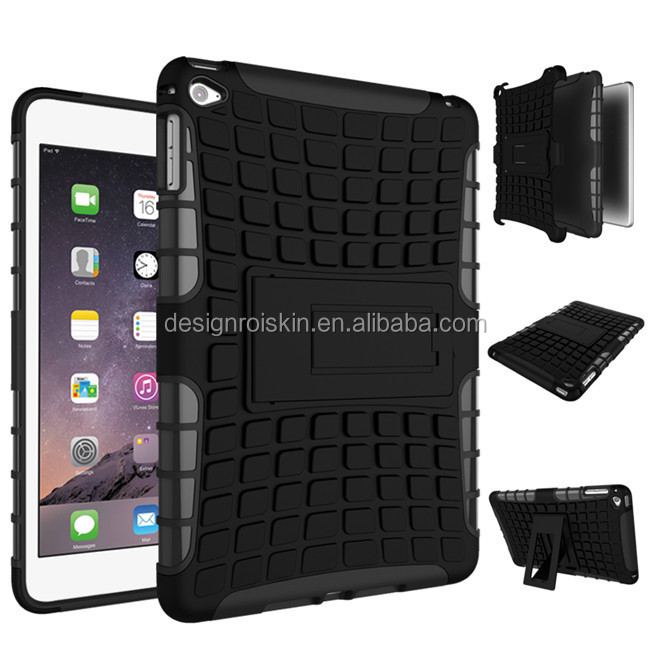 for ipad mini 4 tablet case, for ipad mini 4 plastic case with kickstand