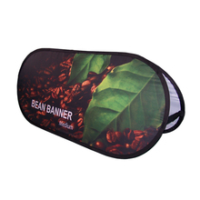 Weihai Wisezone Hot Sale Cheap Horizontal Pop Up Billboard Foldable Outdoor Flag Banner Stand