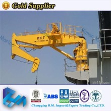 offshore equipment 40 ton knuckle&telescoping boom marine crane