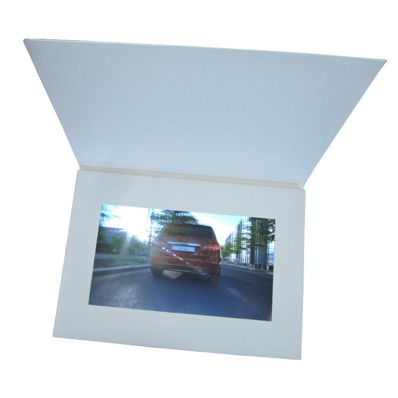 Custom LCD video brochure card with flash memory