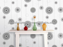 Black and White Color Design Washable Wallpaper with Bathrooms