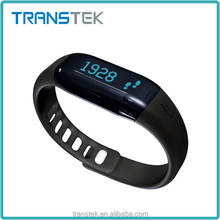 Transtek hot selling cheap custom silicone bracelet heart rate monitor wrist pedometer watch