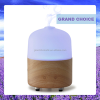 Wood and glass essential oil ultrasonic diffuser aroma humidifier