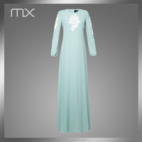 designer embroidered green islamic abaya arabic dubai fashion kaftan