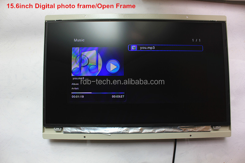 Digital Open Frame advertising player with LED buttons and motion sensor