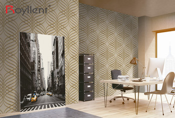 Royllent 2017 PVC 3d wall decoration latest geometric wallpaper designs