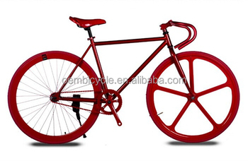 New design 700C Hi-ten steel frame magnesium alloy ONE wheel fixie gear bikes